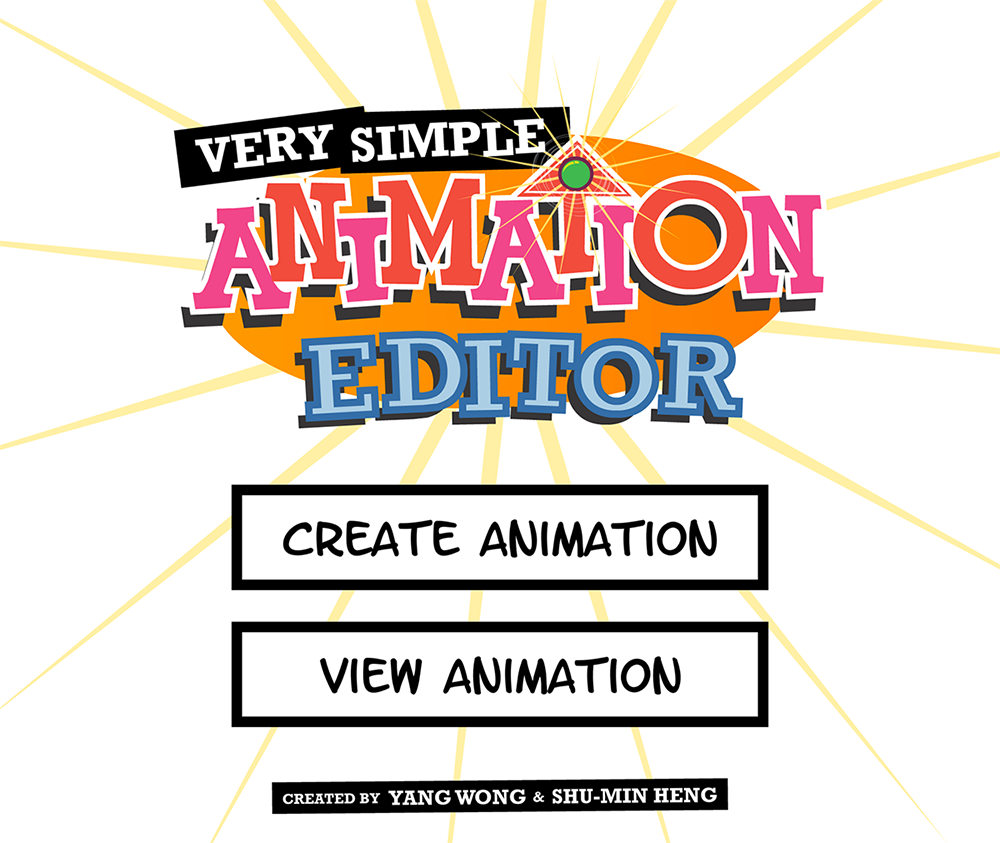 Very Simple Animation Editor title screen